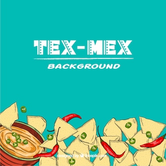 Tex mex jedzenie tło