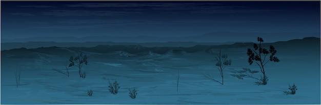 Texas desert w nocy.