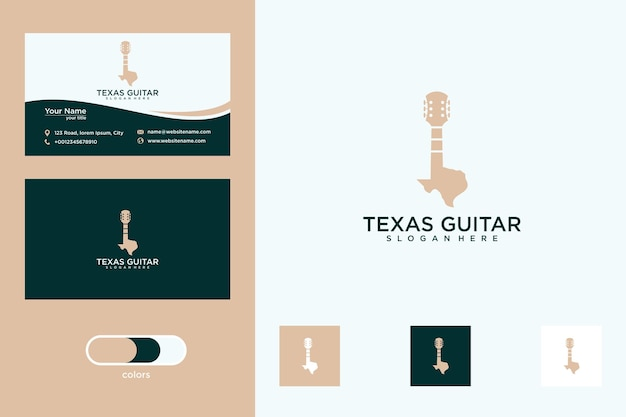 Texas z projektem logo gitary i wizytówką