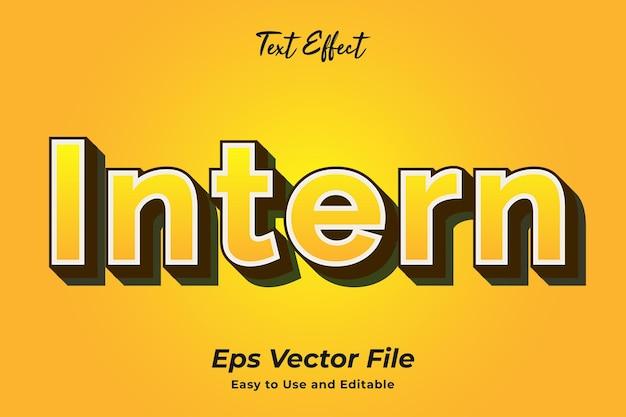 Text effect intern edytowalny i łatwy w użyciu wektor premium