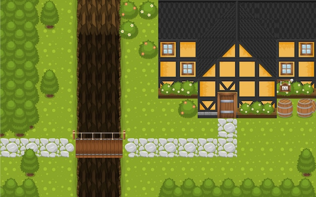 The inn top down gra tileset