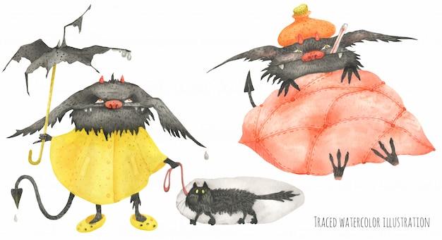 The little furry devils po deszczu