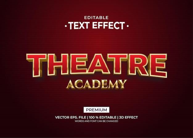 Theatre academy 3d style edytowalne efekty tekstowe