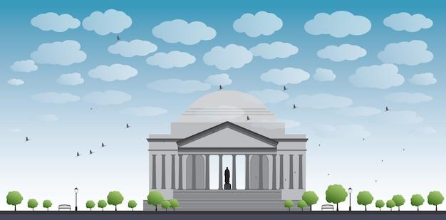 Thomas jefferson memorial w waszyngtonie, usa
