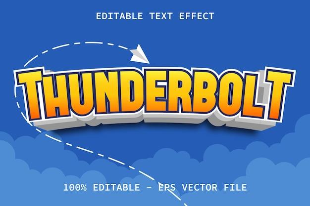 Thunderbolt z efektem edycji tekstu w nowoczesnym stylu