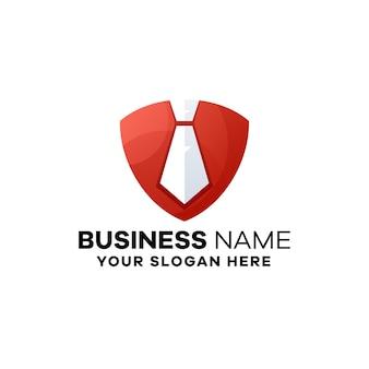 Tie biznes gradient logo szablon