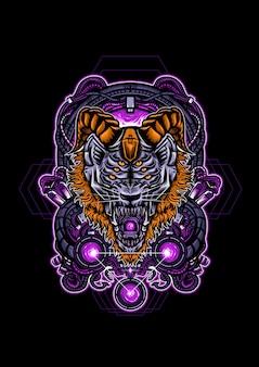 Tiger mecha vector