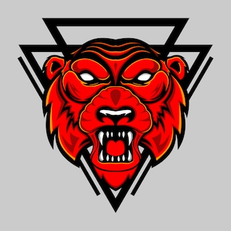 Tiger red head
