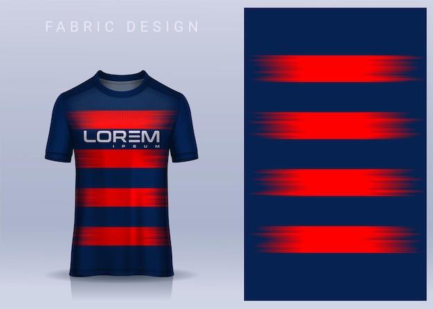 Tkanina na koszulkę sportową koszulka piłkarska. widok z przodu jednolity klub piłkarski
