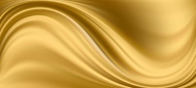 Tkanina satynowa w kolorze złotym