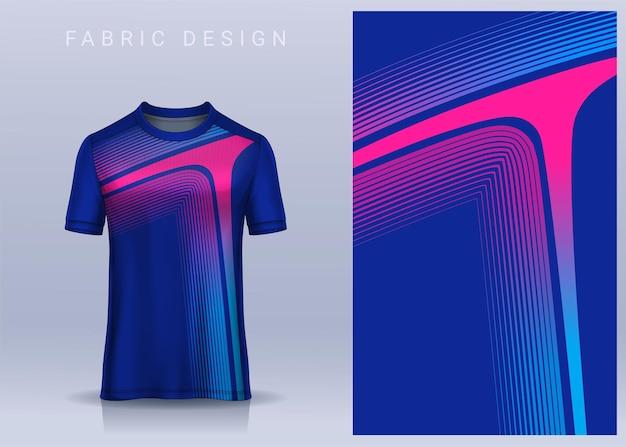 Tkanina tekstylna na koszulkę sportową koszulka piłkarska, widok z przodu