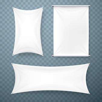 Tkanina transparent szyld kolekcji przezroczyste tło. ilustracja wektorowa