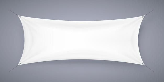 Tkanina transparent szyld na białym tle. ilustracja wektorowa