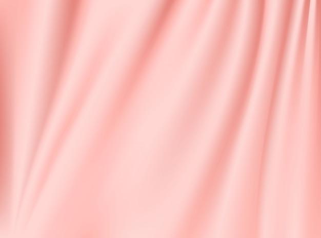 Tkaniny satynowe różowe złoto tkaniny na białym tle na tle koncepcji projektu