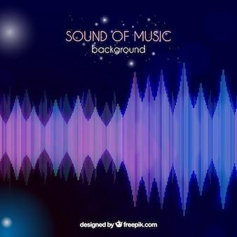 Tła fal dźwiękowych