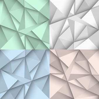 Tła origami w czterech kolorach
