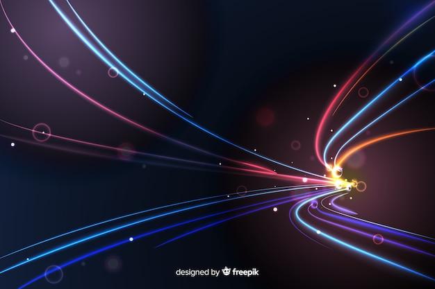 Tła świateł wysokiej prędkości ślad