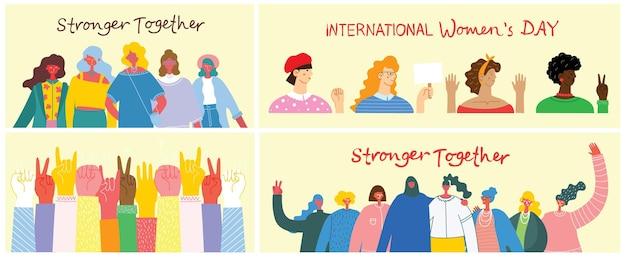 Tła z okazji międzynarodowego dnia kobiet