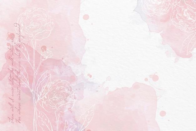 Tle akwarela w pastelowych kolorach