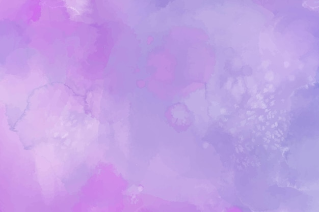 Tle akwarela z fioletowymi plamami
