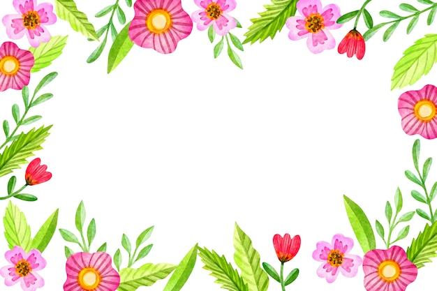 Tle akwarela z kwiatami