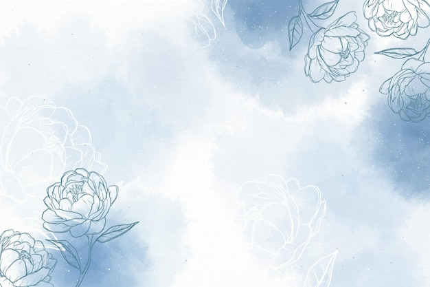 Tle akwarela z ręcznie rysowane elementy
