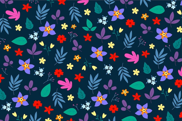 Tle kwiatów z motywem ditsy