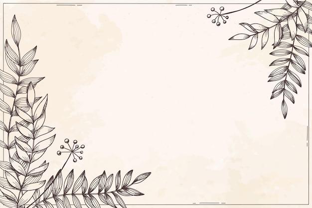 Tle kwiatów z roślinami