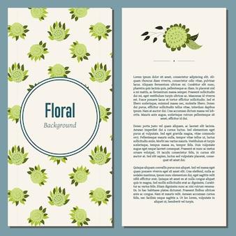 Tle kwiatów z tekstem