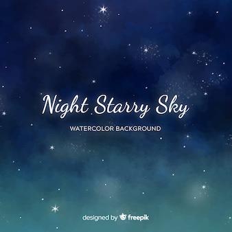 Tle nocnego nieba akwarela