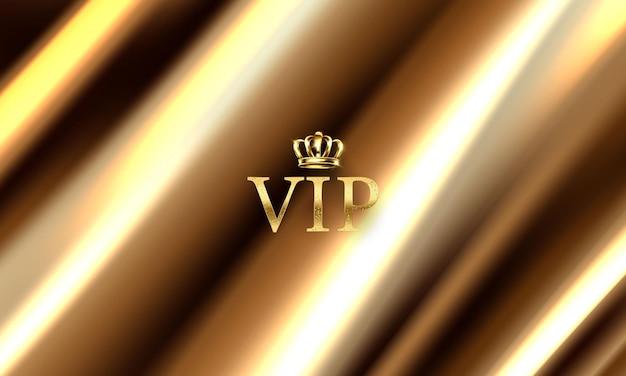 Tłem jest złota kurtyna teatralna vip. ilustracja w formacie wektorowym.