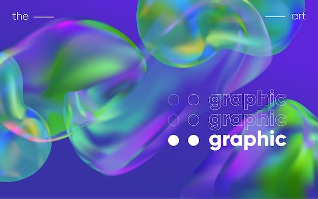 Tło 3d z gradientowymi geometrycznymi kształtami