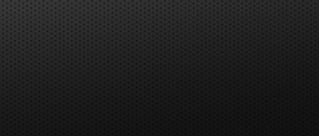 Tło abstrakcji przemysłowych sześciokątów czarne geometryczne wielokątne płytki ułożone w ciemnej teksturze