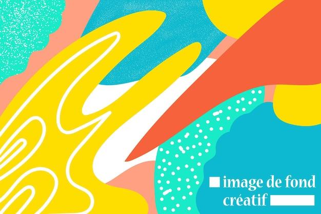 Tło abstrakcyjna sztuka tymczasowa z ziarnem i jasnym kolorowym