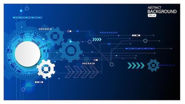 Tło abstrakcyjna technologii komunikacji i koncepcji biznesowych w kolorze niebieskim