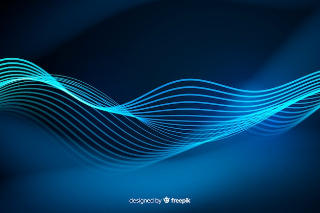 Tło abstrakcyjne linie neonowe