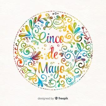 Tło akwarela cinco de mayo