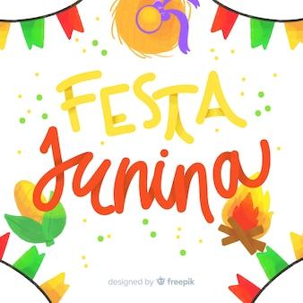 Tło akwarela festa junina