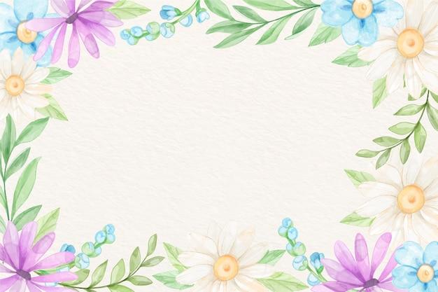 Tło akwarela kwiaty w pastelowych kolorach