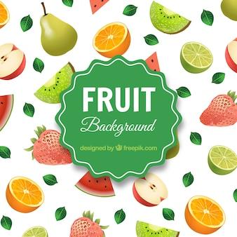 Tło asortymentu owoców