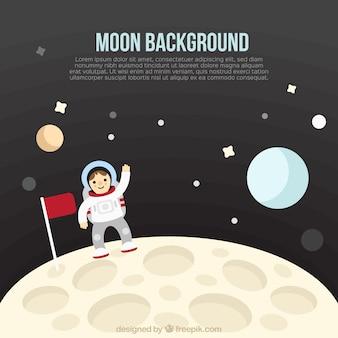 Tło astronauta na księżycu