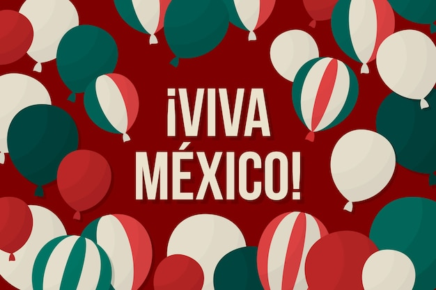 Tło balon niepodległości meksyku