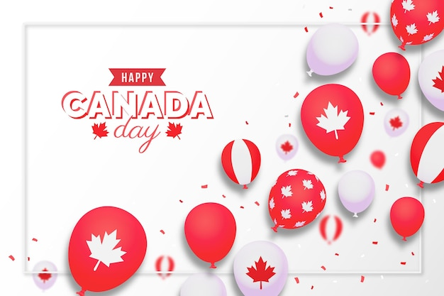 Tło balony dzień kanady gradientu