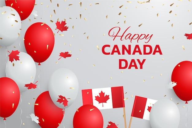 Tło balony gradientowe kanada dzień