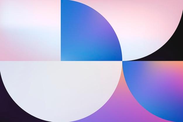 Tło bauhausu, różowy holograficzny wektor gradientowy