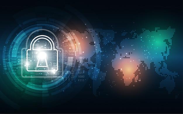 Tło bezpieczeństwa cybernetycznego