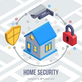 Tło bezpieczeństwa domowego