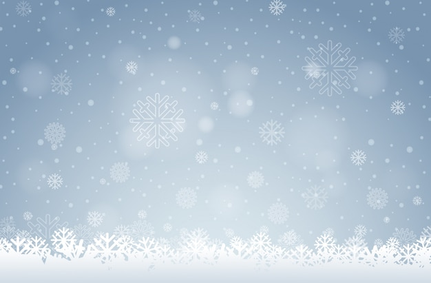 Tło białe płatki śniegu
