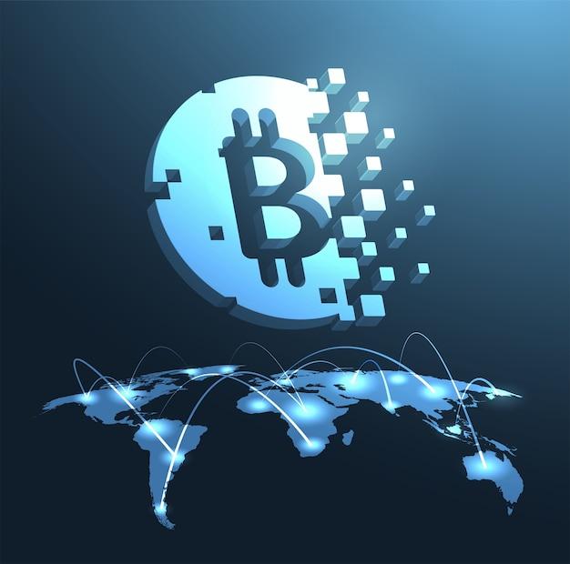 Tło bitcoin
