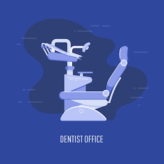 Tło biura dentysty. wektor ilustracja kolorowy szablon dla ciebie projektowania, aplikacji internetowych i mobilnych